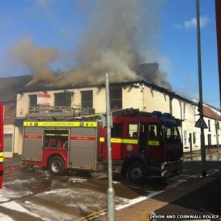 Twyford Inn fire. Pic: Devon and Cornwall Police