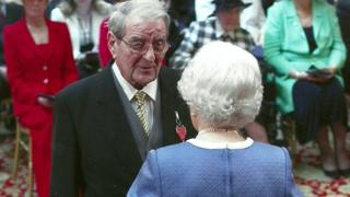 Malcolm Green with the Queen