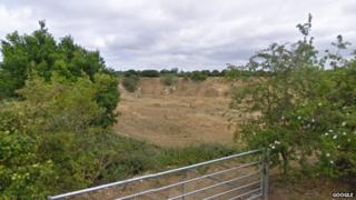 Quarry on Back Lane, Badwell Ash via Google