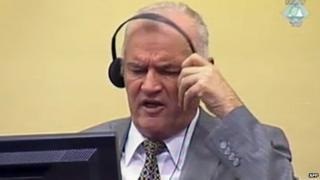 Mladic in court