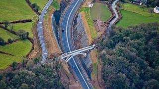 New route of the A477