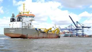 Port of Felixstowe dredging