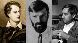 Lord Byron, DH Lawrence and Alan Sillitoe