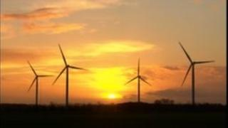 Wind farm in East Yorkshire