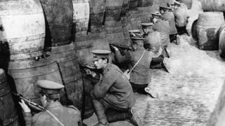 British troops in Dublin during the 1916 Easter Rising