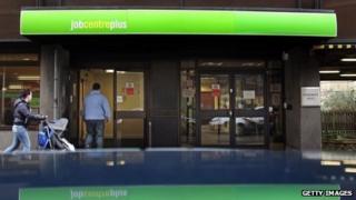 A man walking into a Job Centre