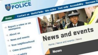 Thames Valley Police media website