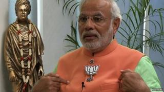 Mr Modi says he is confident about defeating the ruling Congress Party