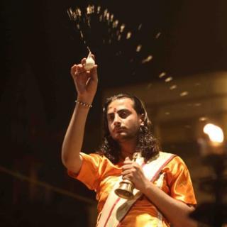 A Hindu priest in Varanasi