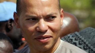 Karim Wade in Dakar on 8 March 2008