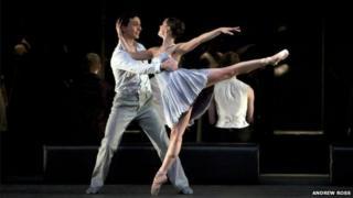 Erik Cavallari as Romeo and Sophie Martin as Juliet in Scottish Ballet's Romeo and Juliet