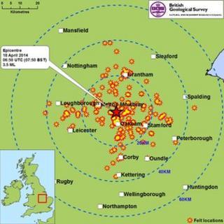 Map of felt locations