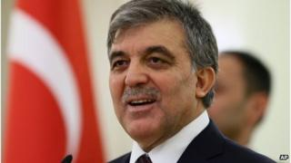 Turkish President Abdullah Gul in Ankara, 15 April