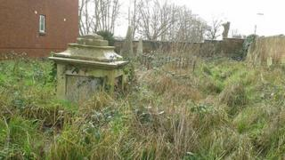 The graveyard before the renovation work started