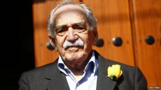 Garcia Marquez outside his house in Mexico, 6 March 14