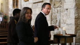 David Cameron in Bethlehem in March 2014