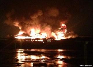 Huge fire on Leeds industrial estate