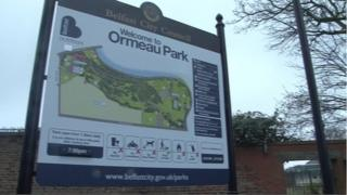 Ormeau Park sign