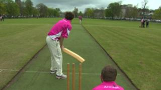 Armagh Cricket Club players wearing pink
