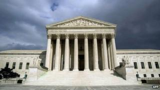 The US Supreme Court Building in Washington DC on 31 March 2012