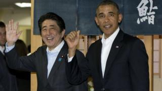 Japanese PM Shinzo Abe and President Barack Obama (23 April 2014)