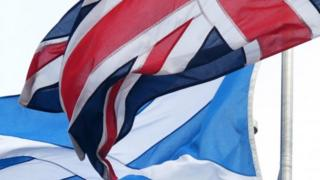 Union Jack and Saltire
