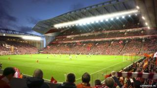 Artist's impression of the new Anfield stadium