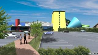 Artists impression of water park