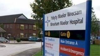 Wrexham Maelor Hospital sign