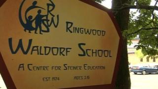 Waldorf School sign