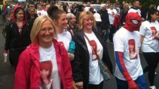 Hollie Gazzard charity walk