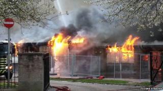Fire at Burnside Centre
