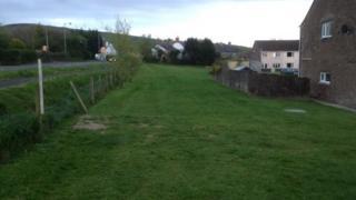 Village green at Maes-y-Deri, Talybont