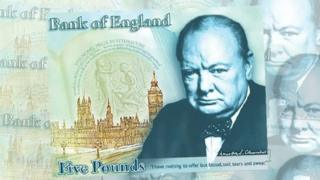 Polymer £5 featuring Winston Churchill