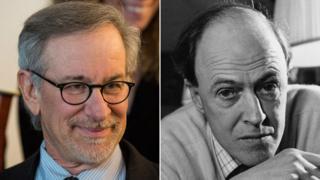 Steven Spielberg and Roald Dahl