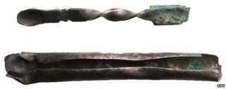 Medieval silver ear scoop