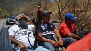 Mexican vigilantes in Arteaga