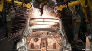 Nissan production plant in Sunderland