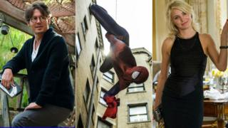 Scenes from (l to r) Transcendence, The Amazing Spider-Man 2 and The Other Woman