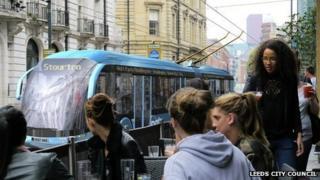 Trolleybus in Leeds