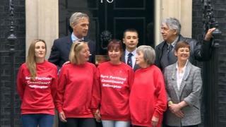 Portland delegation at Downing Street