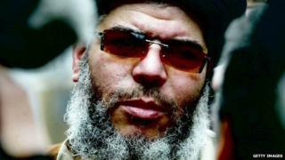 Abu Hamza, shown here in London in 2003, is now on trial in New York