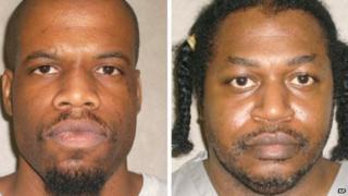Mug shots of convicted murderers Clayton D Lockett and Charles Warner