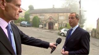 Norman Smith and Nigel Farage