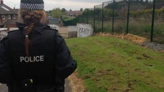 Police said officers were carrying out a search following a report of suspicious activity