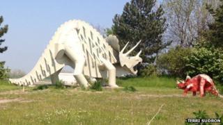 Teessaurus the triceratops. Photo by Terri Sudron.