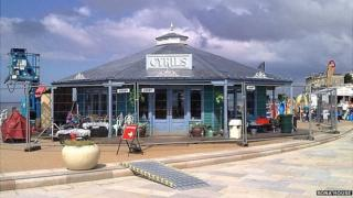 Filming The Café in Weston-super-Mare