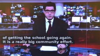 Subtitles on BBC News
