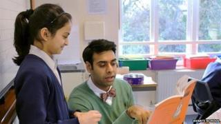 Pupil being taught at Avanti School