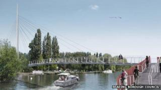 Artist impression of new pedestrian and cycle bridge